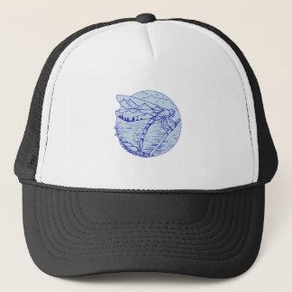 Montagnes de libellule dans le dessin d'ailes casquette