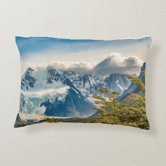 Montagnes de Milou les Andes, EL Chalten Argentine Coussins Décoratifs