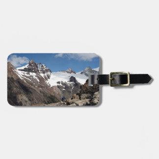 Montagnes de parc national de glacier, Argentine 2 Étiquette À Bagage