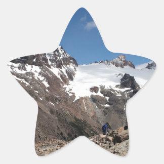 Montagnes de parc national de glacier, Argentine 2 Sticker Étoile