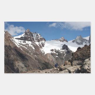 Montagnes de parc national de glacier, Argentine 2 Sticker Rectangulaire