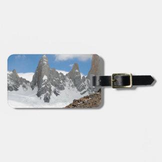 Montagnes de parc national de glacier, Argentine Étiquette À Bagage