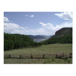 Montagnes de San Juan, carte postale du Colorado
