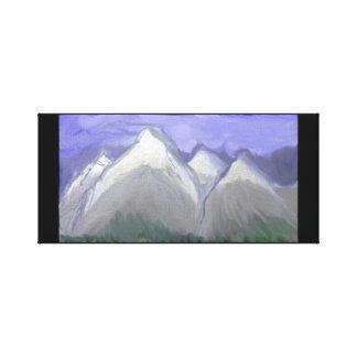 Montagnes du Colorado (aquarelle abstraite) Toile