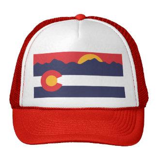 Montagnes du Colorado et casquette de drapeau