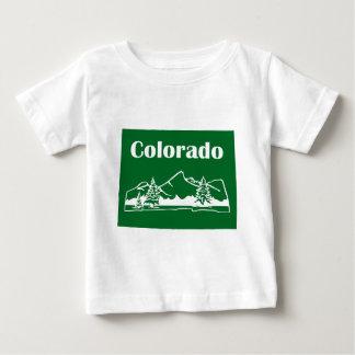 Montagnes du Colorado par l'encre de coutume des T-shirt Pour Bébé