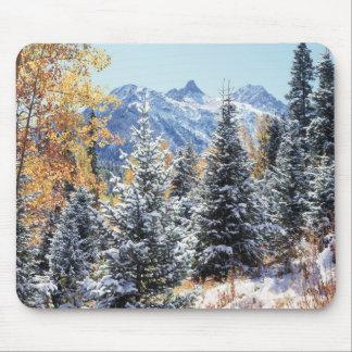 Montagnes du Colorado, San Juan, première neige Tapis De Souris