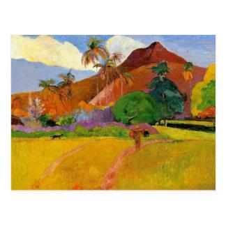 """Montagnes en carte postale du Tahiti"" - Paul"
