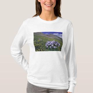 Montagnes et fleurs sauvages dans le pré alpin, t-shirt