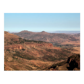 Montagnes éthiopiennes carte postale