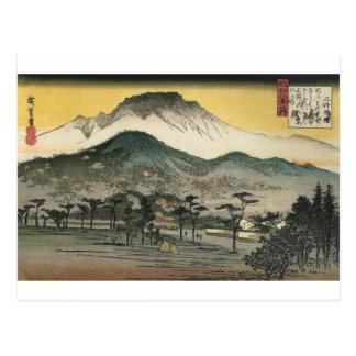 Montagnes japonaises circa 1800's carte postale