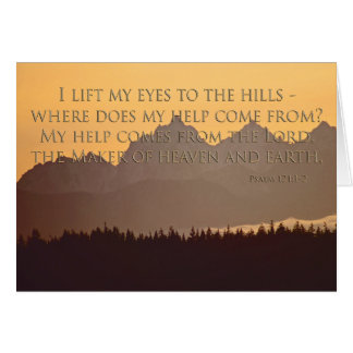 montagnes olympiques avec le 121:1 de psaume - cartes