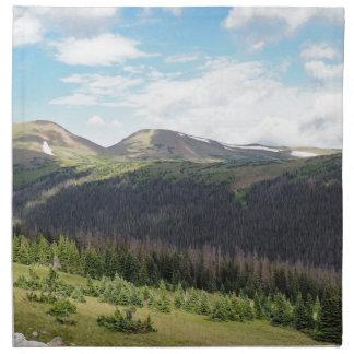 montagnes rocheuses dans le Colorado Serviettes En Tissus