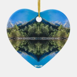 Montagnes slovènes ornement cœur en céramique