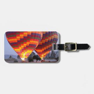 Monte en ballon l'étiquette de bagage de vol étiquette à bagage