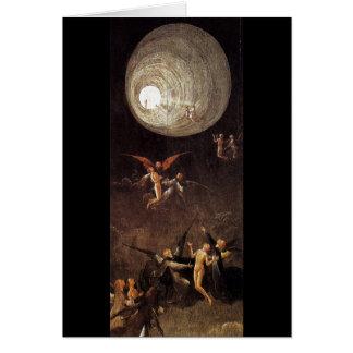 Montée de la bénir, par Hieronymus Bosch Carte De Vœux