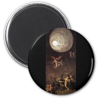Montée de la bénir, par Hieronymus Bosch Magnet Rond 8 Cm