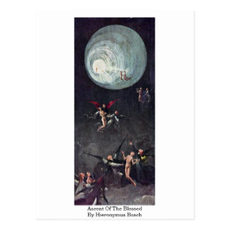Montée du béni. Par Hieronymus Bosch Carte Postale