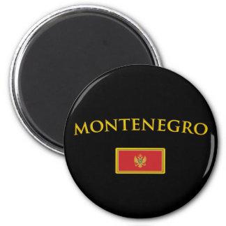 Monténégro d'or magnet rond 8 cm