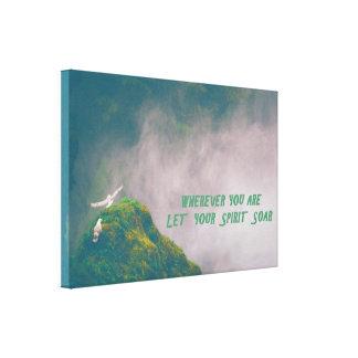 """""""Montent"""" l'art enveloppé inspiré de toile Toiles"""