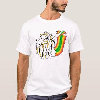 Monter de lion de reggae de Rasta T-shirt