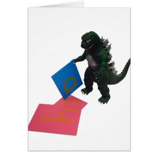 Montessaurus et carte de note de papier de lettres