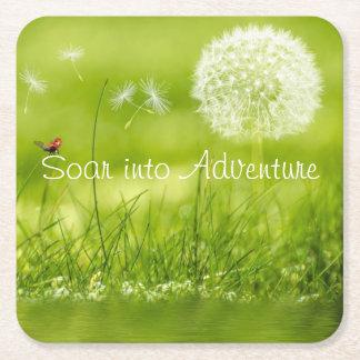 Montez dans l'aventure dessous-de-verre carré en papier
