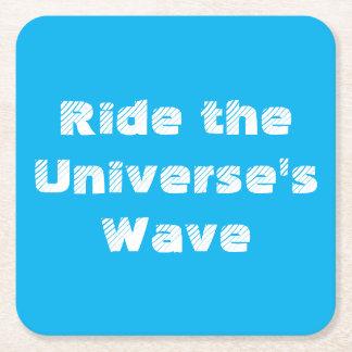 Montez la vague de l'univers dessous-de-verre carré en papier