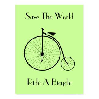 Montez une carte postale de cru de bicyclette