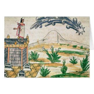 Montezuma II observant une comète, 1579 Carte De Vœux
