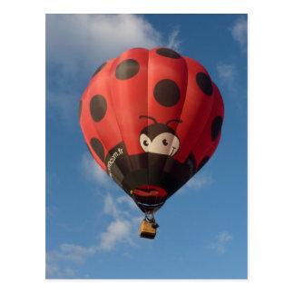 Montgolfiere - Hot air balloon - Coccinelle Carte Postale