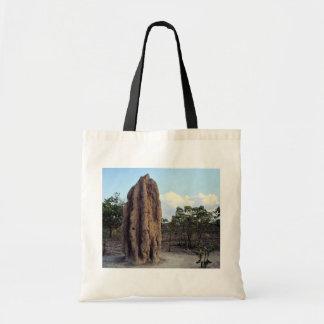 Monticule géant de termite, territoire du nord, sac fourre-tout