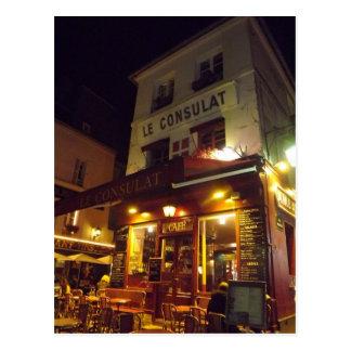 Montmartre, Paris la nuit Carte Postale