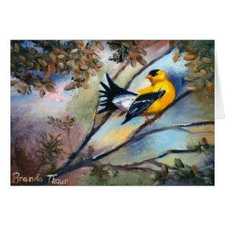 Montrant à oiseau la carte vierge