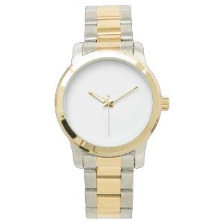 Montre à deux tons unisexe surdimensionnée de montres bracelet