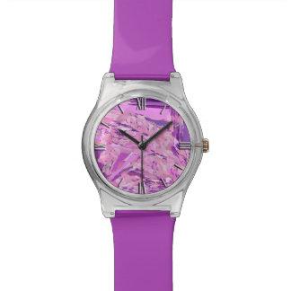 Montre Abrégé sur violet région boisée, lavande, mauve,