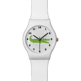 Montre Alligator vert numéroté montre-bracelet de May28th