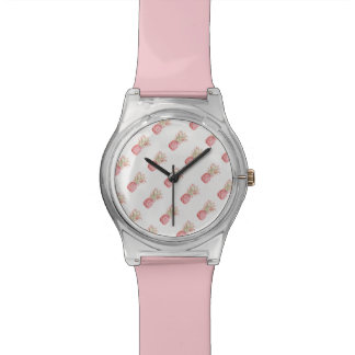 Montre Ananas | rose tropical