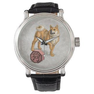 Montre Année du chien - art chinois de zodiaque
