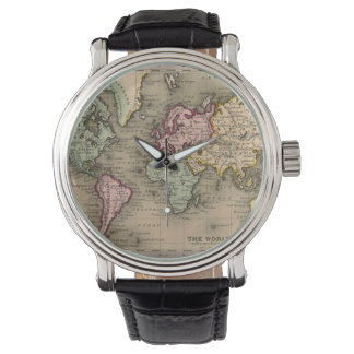 montre antique de carte du monde