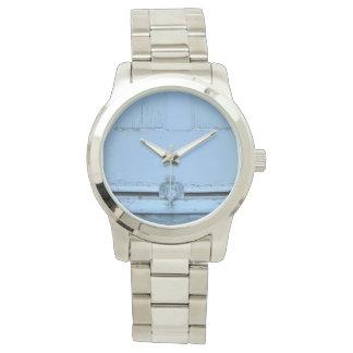 Montre avec la photo d'un ange sur le seuil montres bracelet