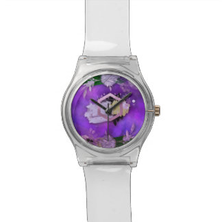 Montre beau, ultra-violet, abstrait, collage, argent, f