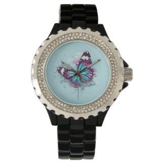 Montre Belle illustration de papillon