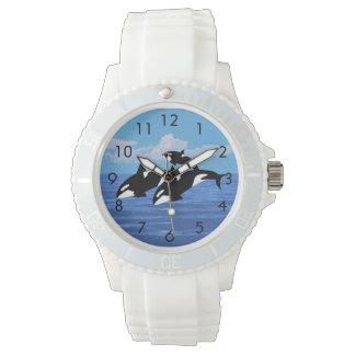 Montre blanche sportive faite sur commande de montres