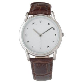 Montre-bracelet avec des nombres hébreux montres