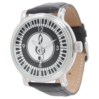 Montre-bracelet de clés de piano de concepteur et montres bracelet
