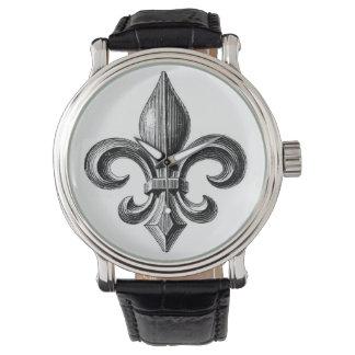 Montre-bracelet de conception de Fleur-De-Lis B&W Montres Bracelet