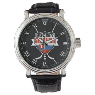 Montre-bracelet de logo de hockey sur glace de la montres bracelet