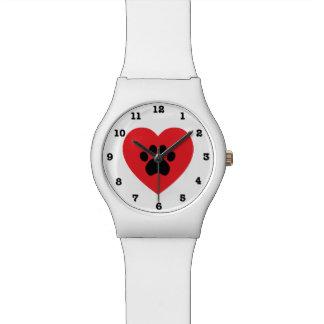 Montre-bracelet numérotée par coeur de l'empreinte montres