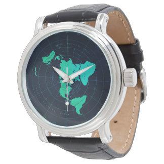 Montre-bracelet plate classique de noir de montres cadran